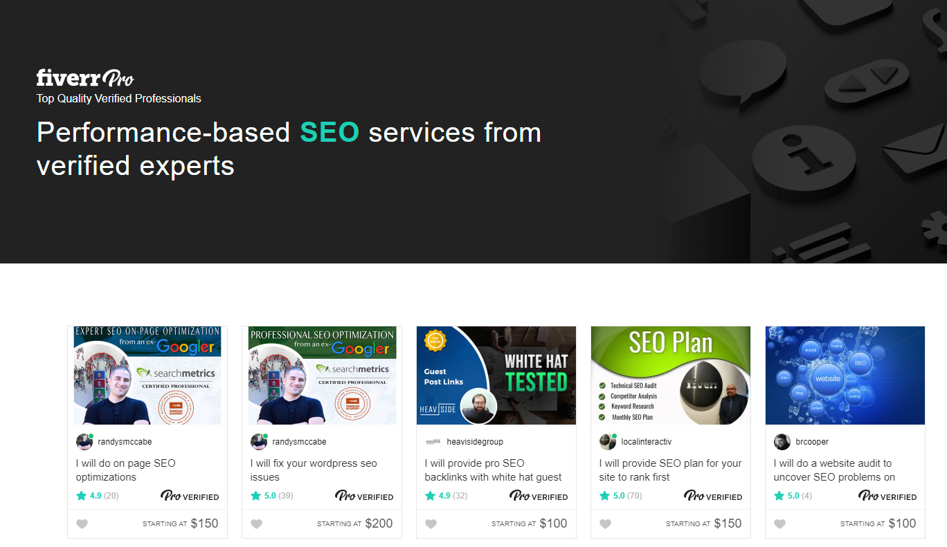 number 1 SEO on Fiverr